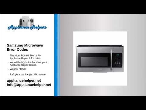 samsung microwave errorcodes
