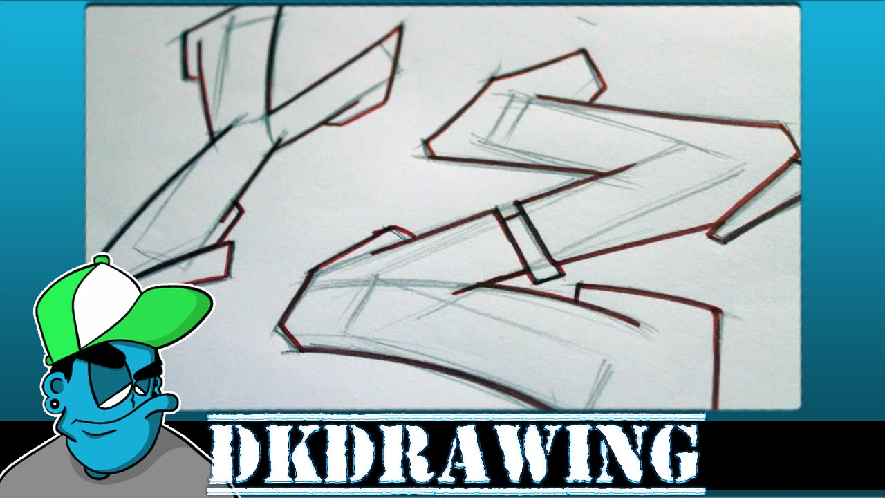 Graffiti Tutorial for beginners - How to draw cool letters Y & Z - YouTube