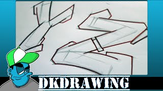 Graffiti Tutorial for beginners - How to draw cool letters Y & Z