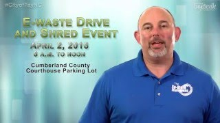 E-Waste Drive and Shred Event 2016 PSA