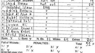 देखिए, आखिर कैसे बने 4 गेंदों पर बांग्लादेश के 92 रन | Bangladesh his 92 Run on 4 Balls