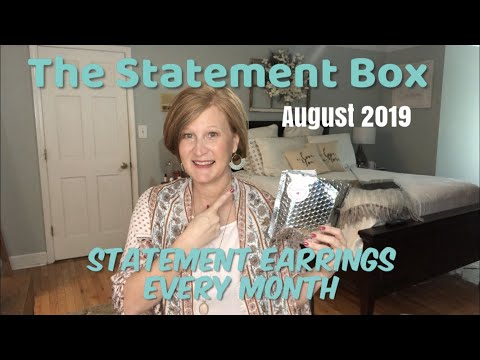 The Statement Box / August 2019 / Beautiful Statement Earrings