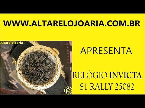 Relógio Invicta S1 Rally Plaque Ouro automatico25082