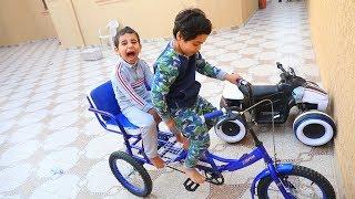 السيكل الغريب - على شكل عربة !!