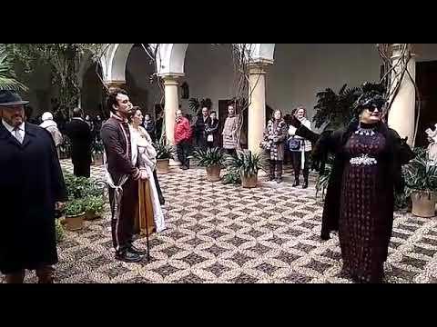 Representación de cómo era la Navidad en el Palacio de Viana