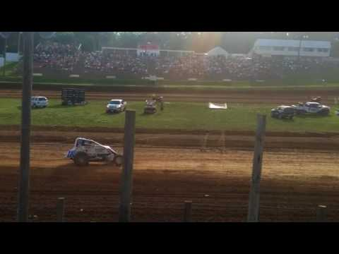 USAC Sprint Car Heat 2  Lincoln Park Speedway