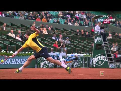 Roland Garros 2014 R1 Wawrinka Garcia Lopez HD