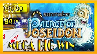 MEGA BIG WIN| Sunmaker- PALACE OF POSEIDON auf 1€ und 2€