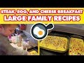 Steak, Egg, and Cheese Breakfast Casserole   Large Family Recipes 🍳