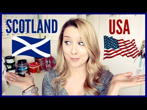 SCOTTISH/BRITISH AND AMERICAN WORD DIFFERENCES!