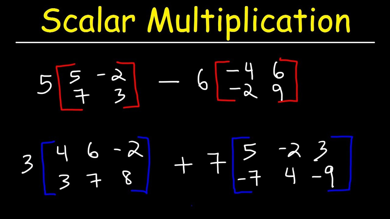 Download Scalar Multiplication of Matrices and Matrix Operations