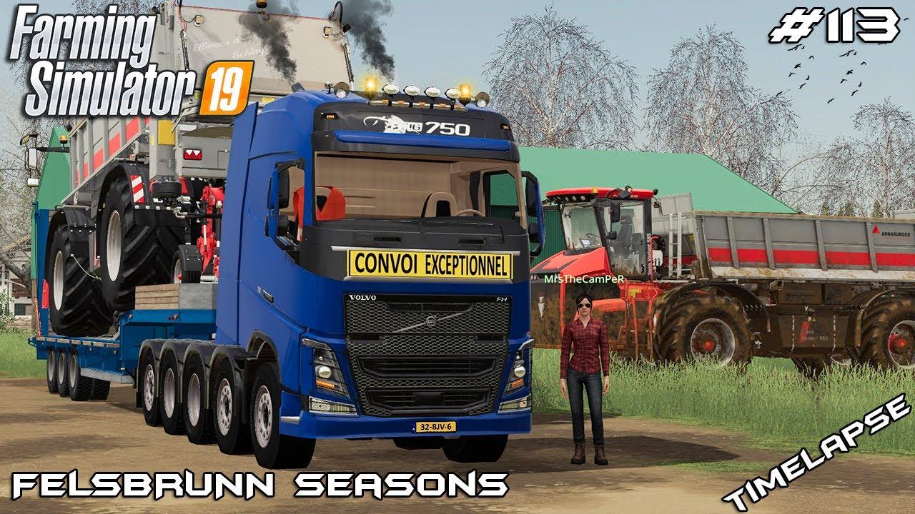 Manure spreading with Holmer | Animals on Felsbrunn Seasons | Farming Simulator 19 | Episode 113