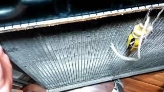 Ремонт радиатора Nissan X-Trail t30. Замена верхнего коллектора.  Часть 2. Зажим