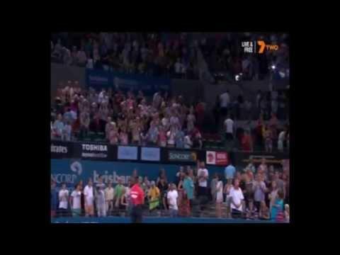 John Millman v Roger Federer 2015 Brisbane International