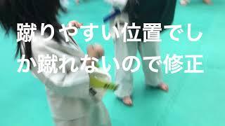 極真空手 蹴りの修正.