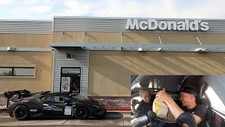 Download Driving an ILLEGAL Lamborghini Racecar thru McDonalds w/Tanner Fox Mp3 and Videos