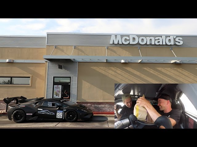 Driving an ILLEGAL Lamborghini Racecar thru McDonalds w/Tanner Fox