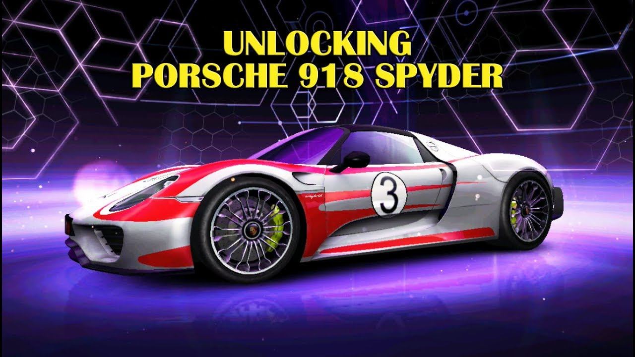Asphalt 8 Edd Unlocking Porsche 918 Spyder Weissach