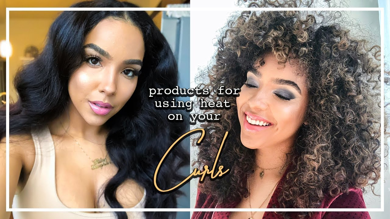 Products For HEAT STYLING Without KILLING Your Curls