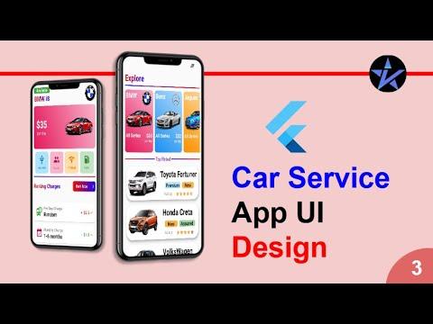 Flutter Car Service App | Sample UI Screen | Flutter app to rent or service your car