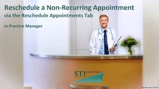 Rescheduling a Non-Recurring Appointment (Reschedule Appt Tab)