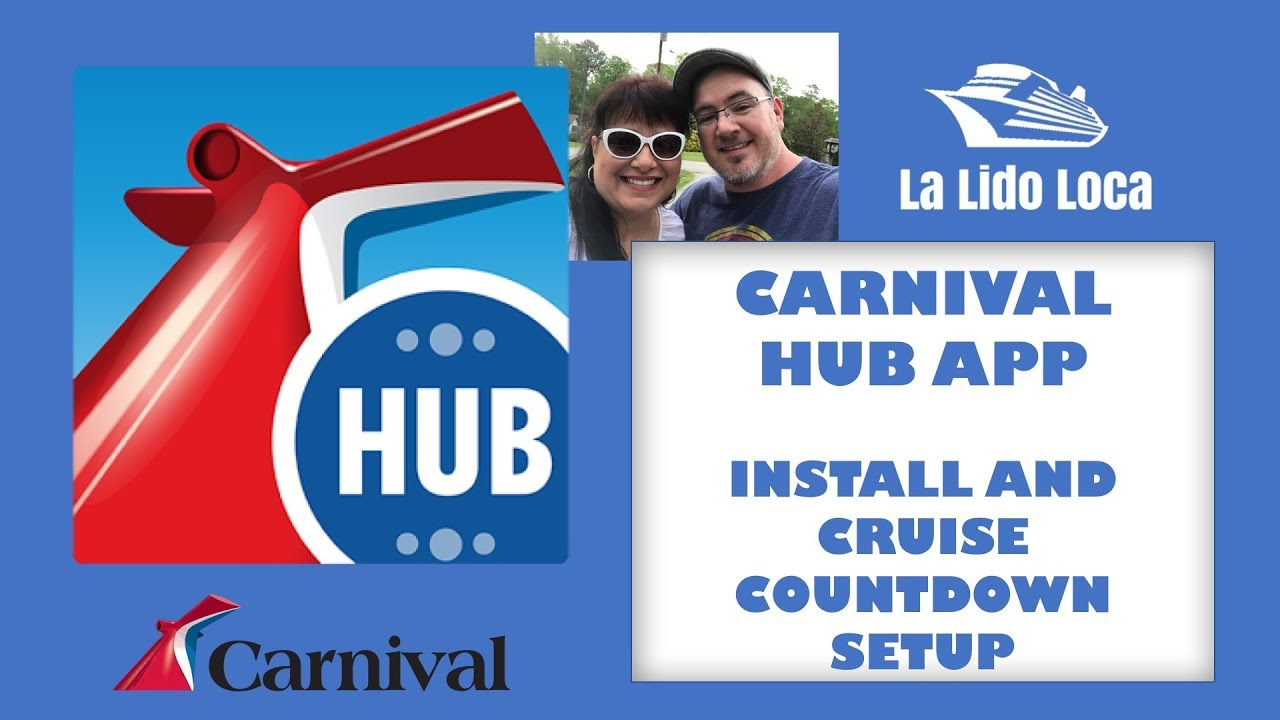 carnival hub app install setup your photo and cruise countdown