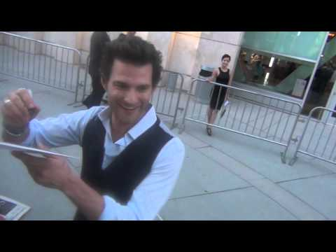 Johnny Whitworth Greets  at The Words Premiere in Hollywood!