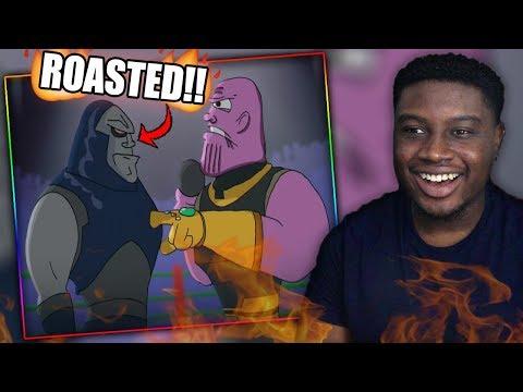 THANOS SNAPS ON DARKSEID!   Darkseid Vs Thanos - Cartoon Beatbox Battles Reaction!