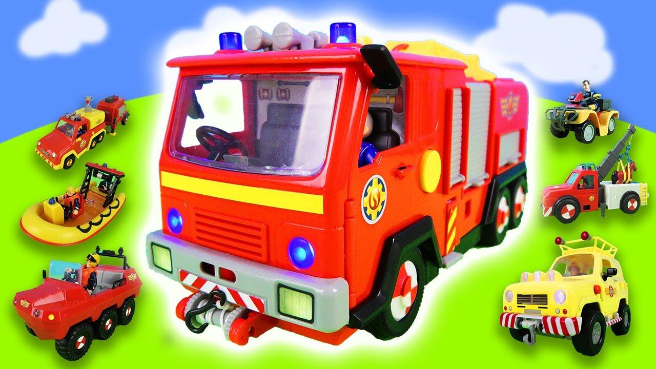 Feuerwehrmann Sam Spielzeugtester Alle Feuerwehrautos