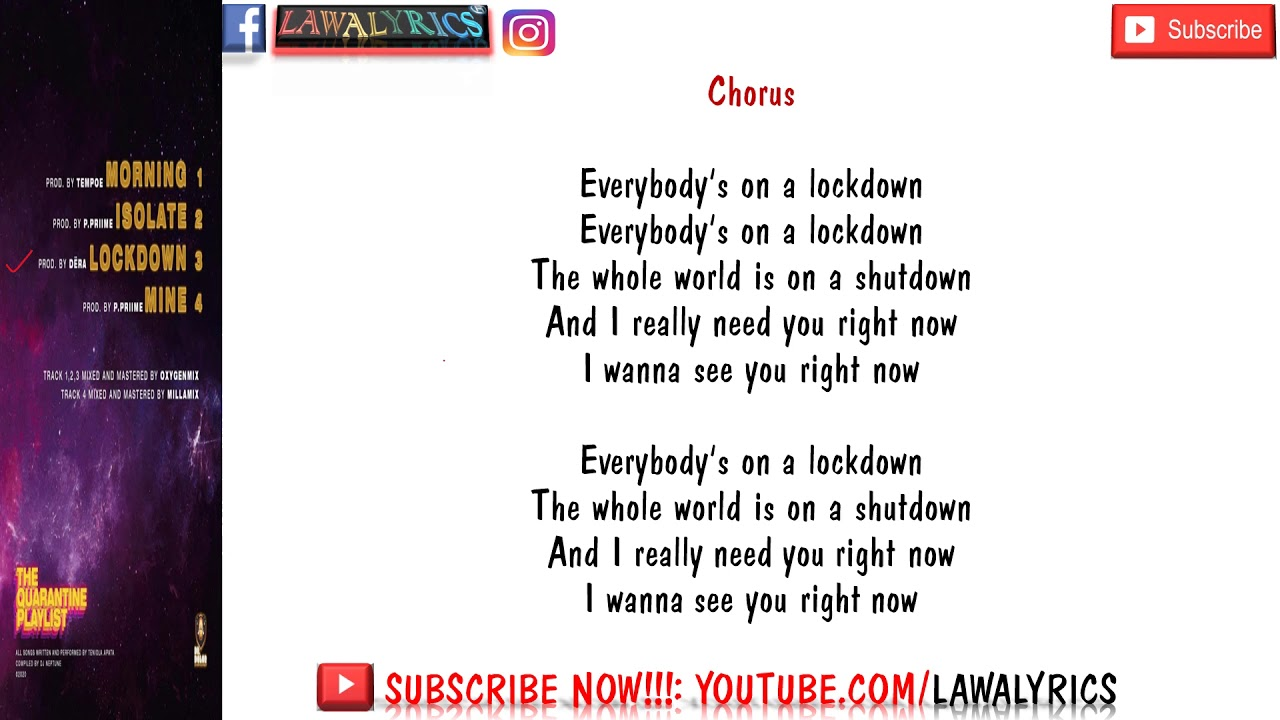 Download Teni - Lockdown ft DJ Neptune (lyrics)🎶