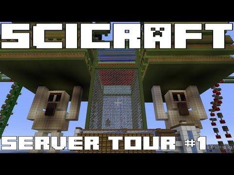 SciCraft Minecraft Server Tour #1 - BIGGEST FARMS I HAVE EVER SEEN!