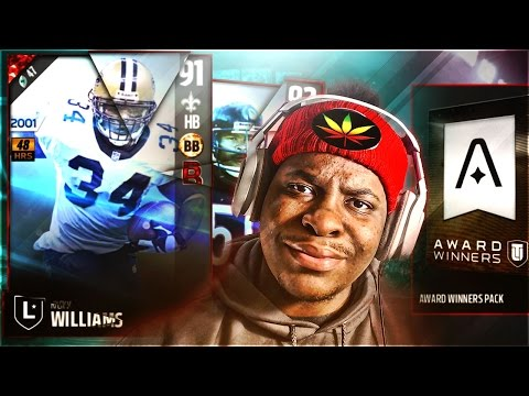 RICKYYYYY! AWARD WINNERS PLAYER PACK! OMG-WORTHY LEGENDS! RICKY WILLIAMS AND MIKE SINGLETARY! MUT 17