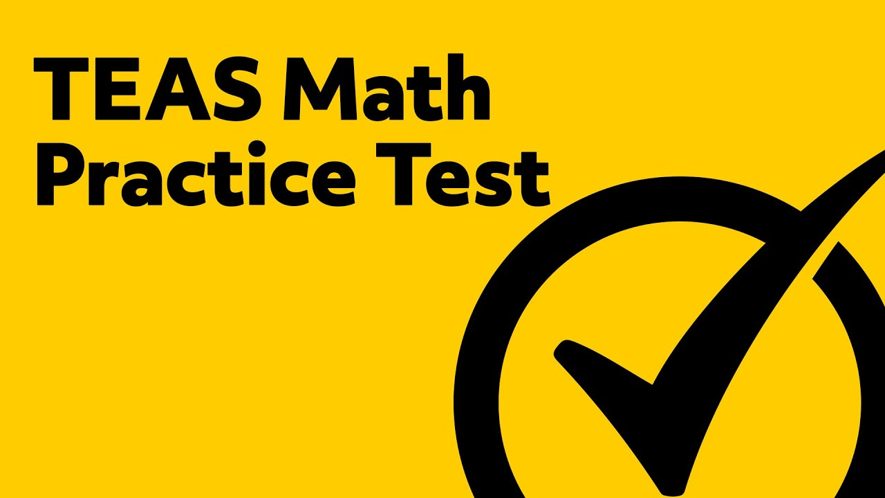 image relating to Printable Teas Practice Test named Cost-free TEAS Check out Math Educate Examine