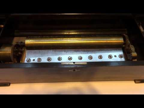 Antique Langdorf & Fils mandoline music box