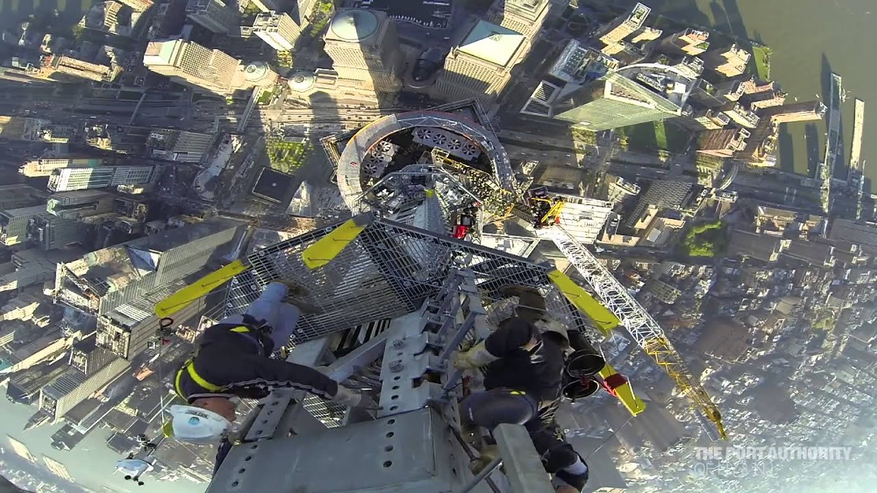 TODAY covers completion of 1 WTC Antenna -  Pt 2  in HD