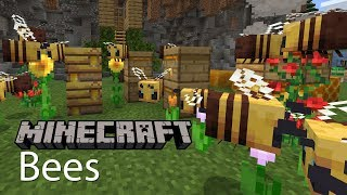 Minecraft Bees Update Gameplay Review Bee Taming, Honey Collection, Nests, Beehives