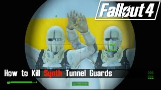 Fallout 4 - Z1-14 Plot - How to Defeat the Synth Tunnel Guards [ No Shots Fired ]