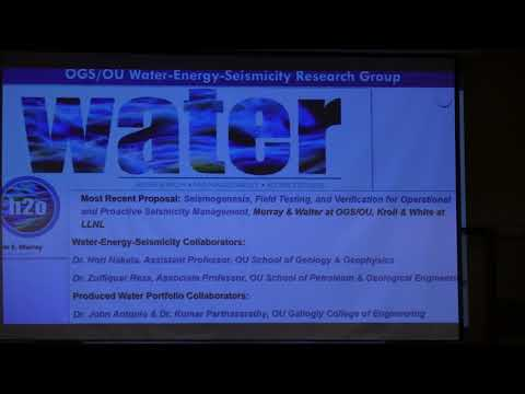 2017 Oil & Gas Summit - Water-Energy-Seismicity Research