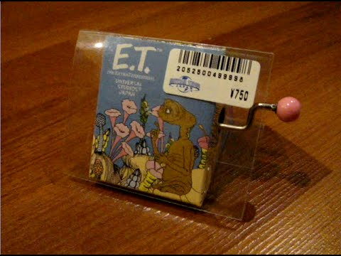 E.T Extra Terrestrial Music Box Universal Studios Japan Steven Spielberg John Williams Theme UFO