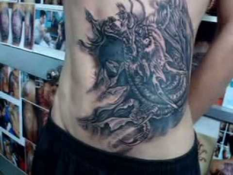 Cover up, tattoo, xam hinh, dragon.wmv