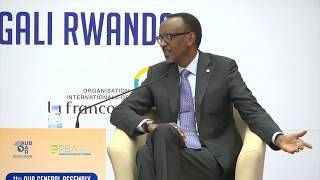 President Kagame speaks at the 11th General Assembly of the African Union of Broadcasting