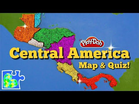 central-america-map:-super-fun-educational-play-doh-puzzle-+-country-quiz!
