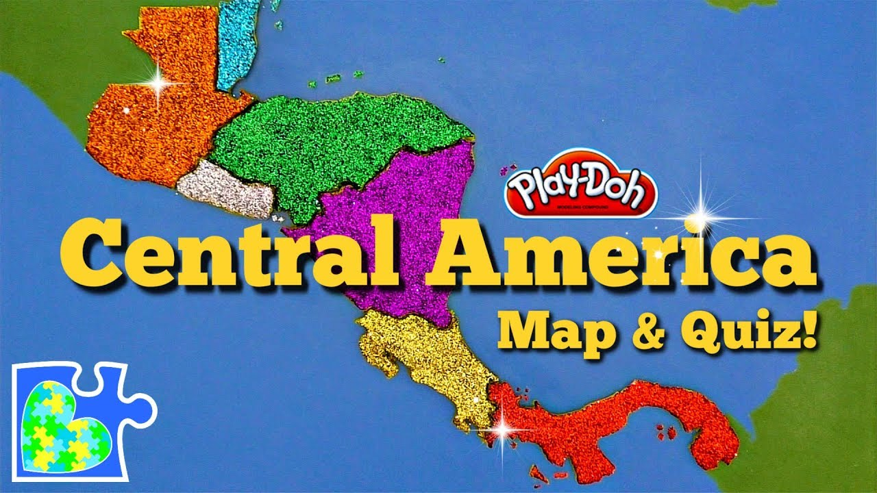 Central America Map: Super Fun Educational Play-Doh Puzzle + Country ...
