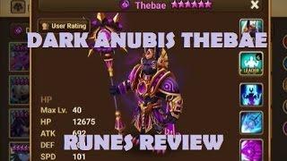 summoners war dark anubis thebae review dark anubis runes skills review