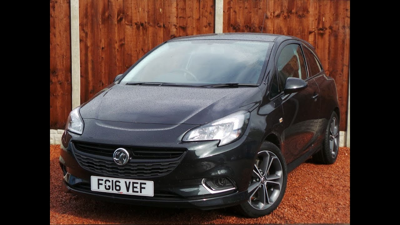 2016 16 vauxhall corsa 1 4 16v 150ps black edition 3dr in black youtube. Black Bedroom Furniture Sets. Home Design Ideas