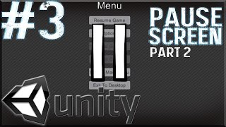 Unity Tutorials #3 - Pause Menu Pt. 2 [GUI] - Pausing The Game thumbnail