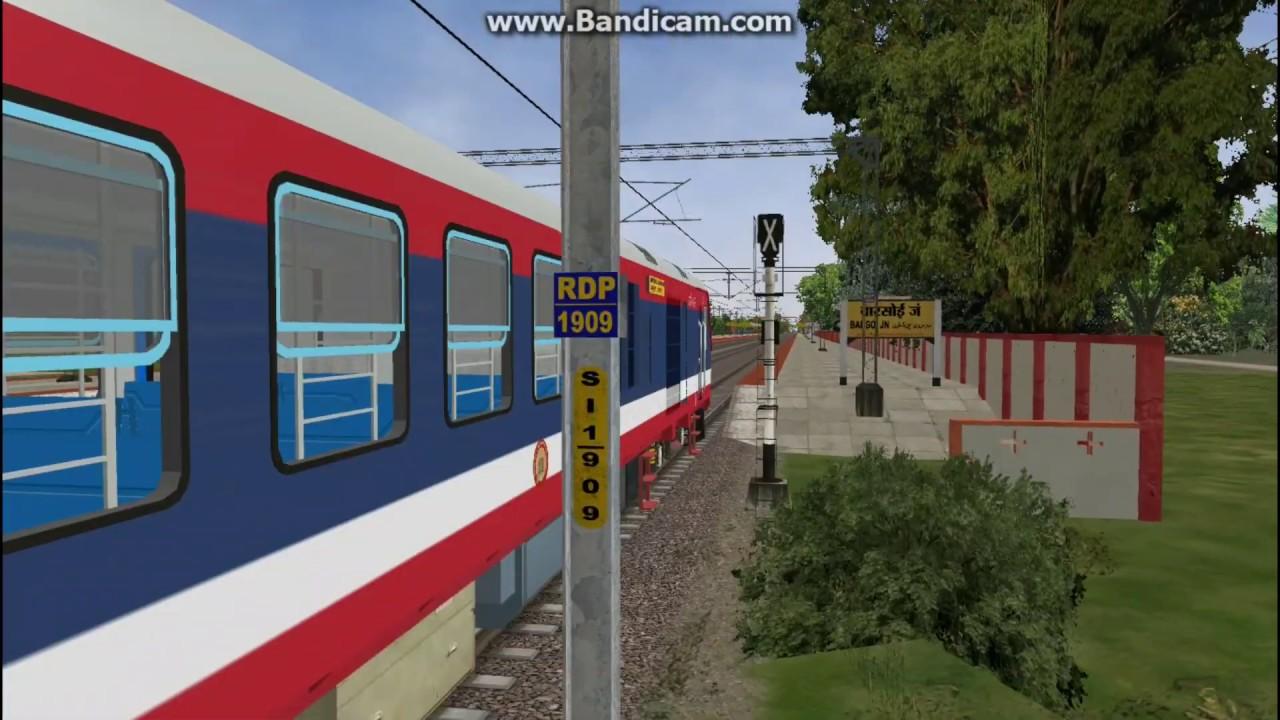 Radhikapur Route Trial Run With Newly Released ICF Demu Model Of Mr Gaurav  Virdi    MSTS/Open Rails