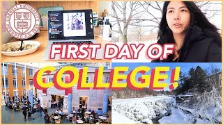 ❄️FIRST DAY OF COLLEGE VLOG: Spring 2019!! Cornell University (Freshman Year)🐻   Katie Tracy