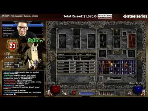 Diablo 2 - 8 Man HELL 100% Speedrun!!!!