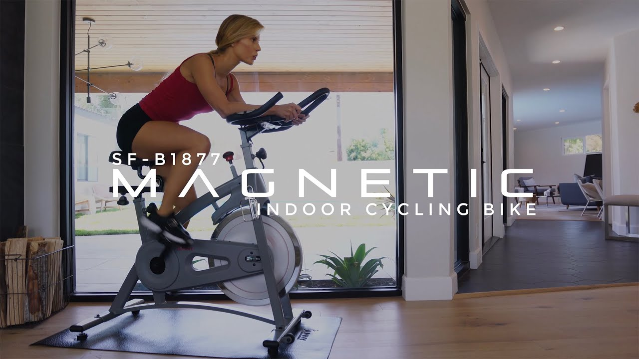 Sunny Health & Fitness Endurance Belt Drive Magnetic Indoor Exercise Cycle Bike SF-B1877